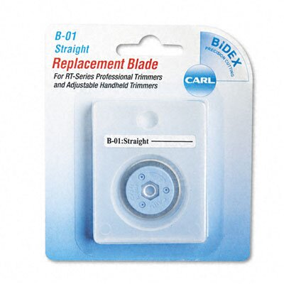 Carl Manufacturing Bidex Straight Blade for Personal/Professional Rotary Trimmers