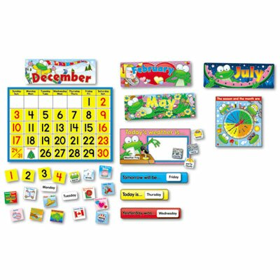 Carson-Dellosa Publishing Frog Calendar Bulletin Board Set