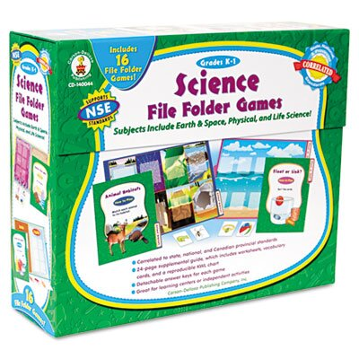 Carson-Dellosa Publishing Science File Folder Game, Grades K-1
