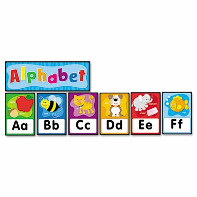 Carson-Dellosa Publishing Quick Stick Bulletin Board Set, Alphabet