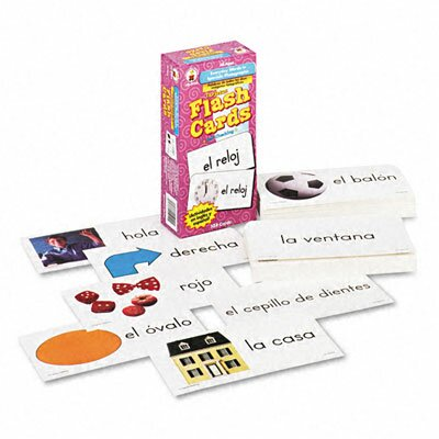 Carson-Dellosa Publishing Everyday Words In Spanish Photographic Flash Cards, 104/Pack