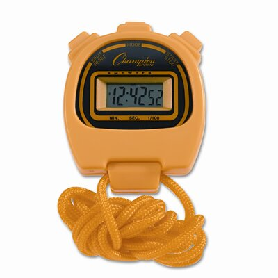 Champion Sports Water-Resistant Stopwatches, 1/100 Second