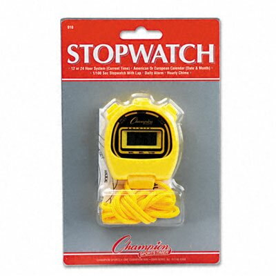 CHAMPION SPORT Water-Resistant Stopwatches, 1/100 Second (Set of 6)