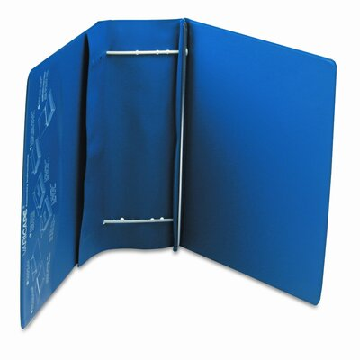 Charles Leonard Co. Varicap6 Expandable 1 To 6 Post Binder, 8-1/2 x 11, Blue