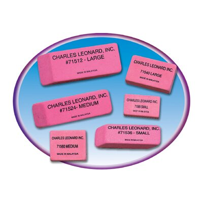 Charles Leonard Co. 36/bx Pink Economy Wedge Erasers