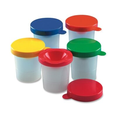 Charles Leonard Co. Paint Cups, w/Colored Lid, 10 per Pack, Assorted Colors
