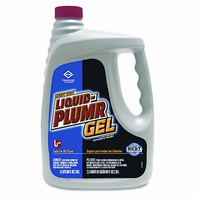 Clorox Company Liquid Plumr Heavy-Duty Clog Remover, 80oz Bottle