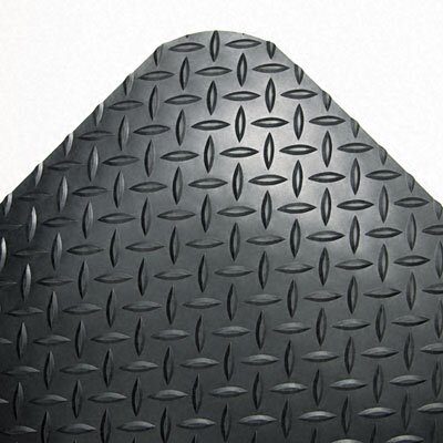 "CROWN MATS & MATTING                               Industrial Deck Plate Anti-Fatigue Mat, Vinyl, 36"" x 144"""