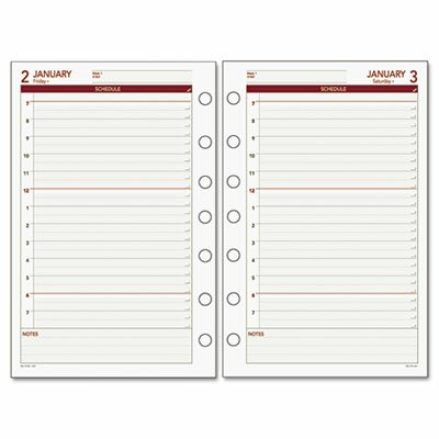 Day Runner Express Daily Planning Pages Refill, Hourly Appointments, 5-1/2 x 8-1/2, 2014