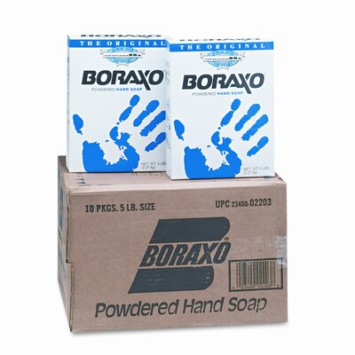 Dial® Complete® Boraxo Powdered Original Hand Soap, Unscented Powder, 5lb Box, (10 per Carton)