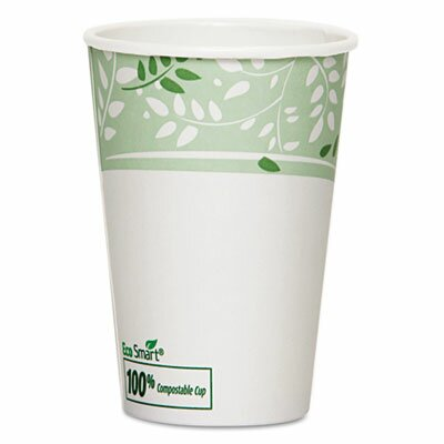 Dixie Foods EcoSmart Hot Cups, PLA Lined Paper, Viridian, 50/Carton