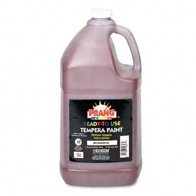Dixon® Ready-to-Use Tempera Paint, Brown, One Gallon