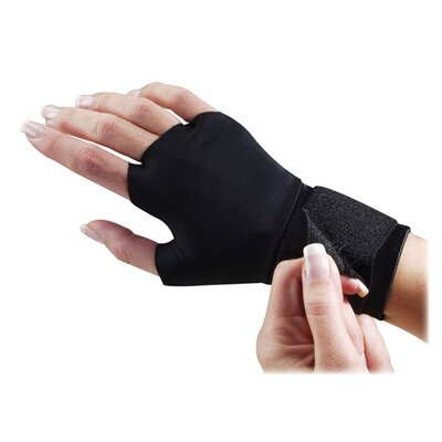 Dome Publishing Company, Inc. Support Glove, w/ Wrist Strap, Small, Black