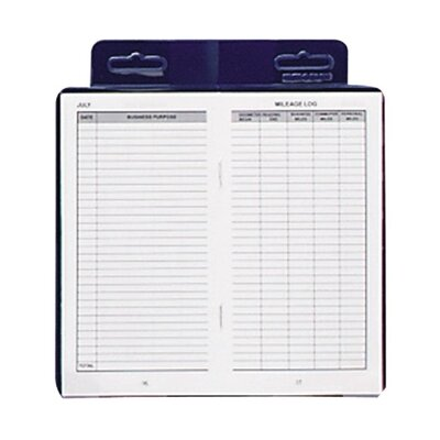 "Dome Publishing Company, Inc. Deluxe Automobile Mileage Log Book, 3-1/4""x6-1/4"", Blue"