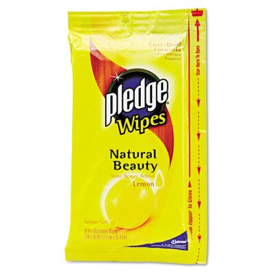 DRACKETT PROFESSIONAL                              Pledge Lemon Scent Wet Wipes, Cloth, 24/Pack