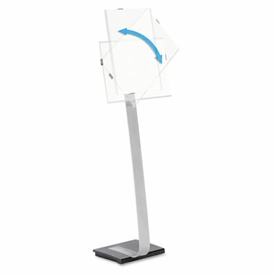 "Durable Office Products Corp. Info Sign Duo Floor Sign Stand For Letter-Size Inserts, 44-1/2"" High"