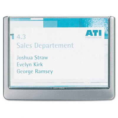 Durable Office Products Corp. Click Sign Holders For Interior Walls, 6 3/4 x 5/8 x 5 1/8, Graphite
