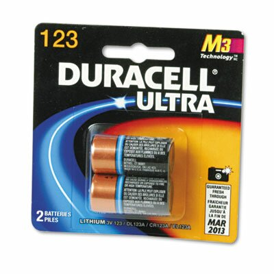 Duracell Ultra High Power Lithium Battery, 123, 3V, 2/Pack