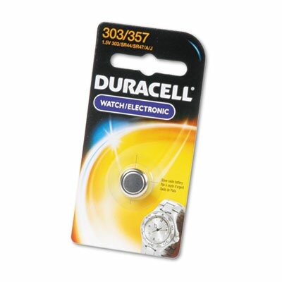 Duracell Button Cell Silver Oxide Calculator/Watch Battery, 303/357, 1.5V