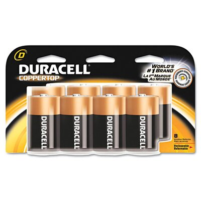 Duracell D-Cell Coppertop Alkaline Batteries