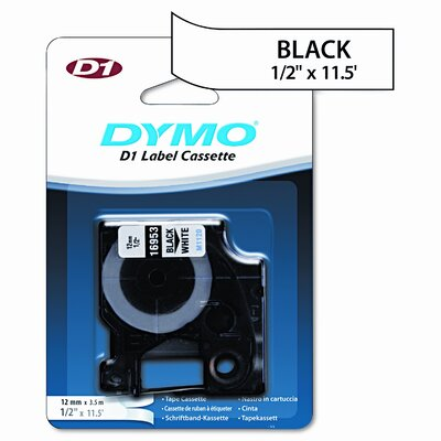 Dymo Corporation 16953 D1 Flexible Nylon Label Maker Tape, 1/2In X 12Ft