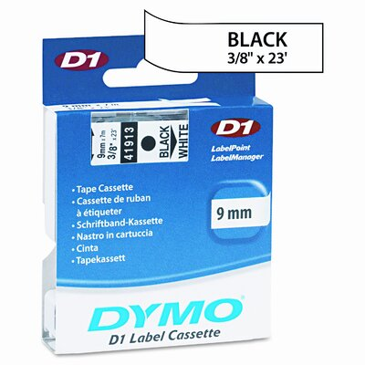 "Dymo Corporation D1 Standard Tape Cartridge for Label Makers, 0.37"" x 23'"