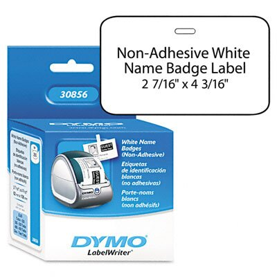 Dymo Corporation Name Badge Insert Labels, 250/Box