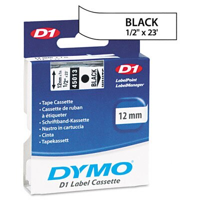 Dymo Corporation D1 Standard Tape Cartridge for Label Makers, 1/2In X 23Ft