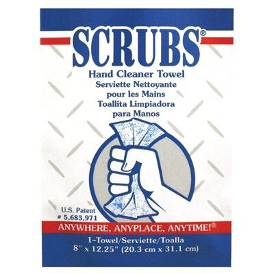 Dymon SCRUBS® Hand Cleaner Towels - scrubs hand cleaner towel 1/packet