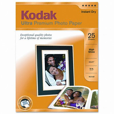 Eastman Kodak High-Gloss Ultra Premium Photo Paper, 25 Sheets/Pack