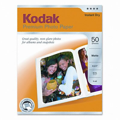 Eastman Kodak Matte Premium Photo Paper, Sheets/Pack