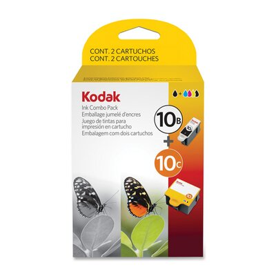 Eastman Kodak Ink Cartridges, Combo Pack, 10B 425/10C 420 Page Yield, Black/CR