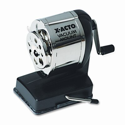 Elmer's Products Inc Boston Model KS Vacuum Table/Wall-Mount Manual Pencil Sharpener, Black/Chrome