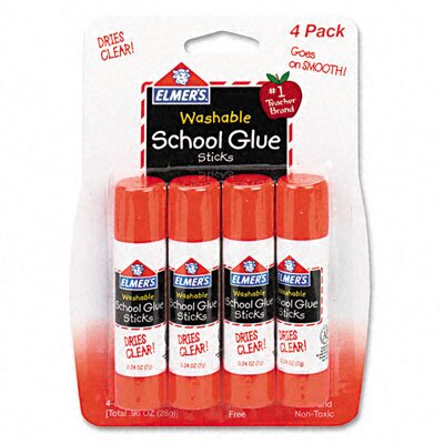 Elmer's Products Inc Washable All Purpose School Glue Sticks, 4/Pack