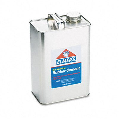 Elmer's Products Inc Rubber Cement, Repositionable, 1 Gal