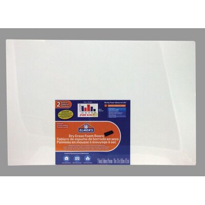 Elmer's Products Inc Dry Erase Foam 1.67' x 2.5' White Board