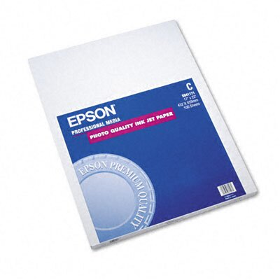 Epson America Inc. S041171 Matte Presentation Paper, 27 Lbs., 17 X 22, 100 Sheets/Pack