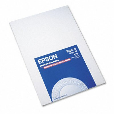 Epson America Inc. Premium Photo Paper, 68 Lbs., 13 X 19, 20 Sheets/Pack