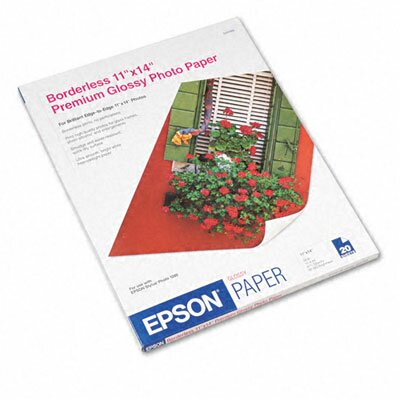 "Epson America Inc. Premium Photo High-Gloss Paper, 11"" x 14""/Pack"