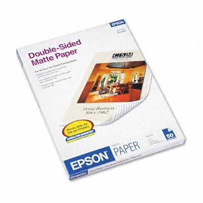 "Epson America Inc. S041568 Premium Matte Presentation Paper, 8.5"" x 11"", 50 Sheets/Pack"