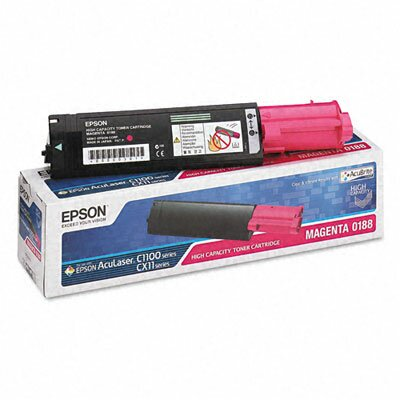 Epson America Inc. S050188 (S050192) Toner Cartridge, High-Yield, Magenta