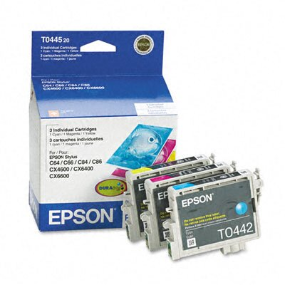 Epson America Inc. T044520 Durabrite Ink, 1200 Page-Yield, 3/Pack