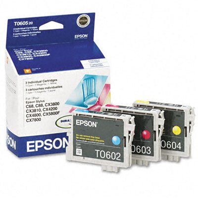 Epson America Inc. T060520 Ink, 1350 Page-Yield, 3/Pack