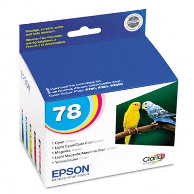 Epson America Inc. T078920 (78) Claria Ink, 1290 Page-Yield, 5/Pack