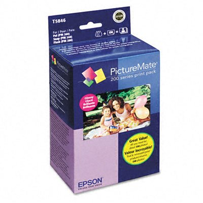 Epson America Inc. T5846 Picturemate 200-Series Print Pack, 150 Sheets/Pack