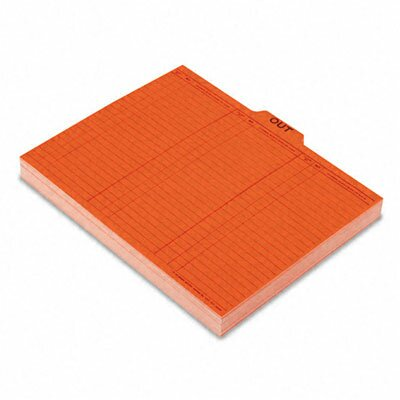 Esselte Pendaflex Corporation Salmon Color Charge-Out Guides, 1/5 Tab, 11 Point Stock, Letter, 100/Box