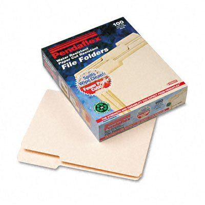 Esselte Pendaflex Corporation Cutless/Watershed File Folders, 1/3 Cut Top Tab, Letter, 100/Box