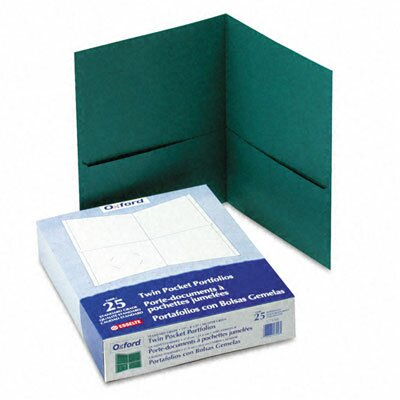 Esselte Pendaflex Corporation Oxford Twin-Pocket Portfolio, Embossed Leather Grain Paper, 25/Box