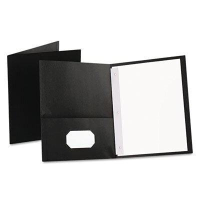"Esselte Pendaflex Corporation Oxford Paper Twin-Pocket Portfolio, Tang Clips, Letter, 1/2"" Capacity, 25/Box"