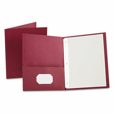 "Esselte Pendaflex Corporation Oxford Paper Twin-Pocket Portfolio, Tang Clip, Letter, 1/2"" Capacity, 25/Box"